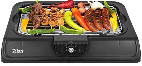 Elektro Grill   2.000 Watt   Thermostat   Stufenloser Temperaturregler   Tischgrill   Standgrill   Partygrill   elektrischer BBQ Grill   Tisch Grill elektrisch   Cool Touch Griffe… (Tischgrill)