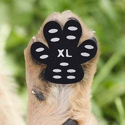Cizen Pfotenschutz für Hunde, 20 Stück Anti-Rutsch Pfoten-Schutz Hundepfotenschutz, Selbstklebende Einweg-Hundeschuhe (XL-(18-27kg))