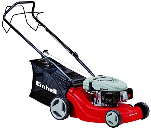 Einhell Benzin-Rasenmäher GC-PM 40 S-P (bis 1000m², 1,2 kW, luftgekühlter Ein-Zylinder-Viertakt OHV-Motor, 5-stufige zentrale Schnitthöhenverstellung)
