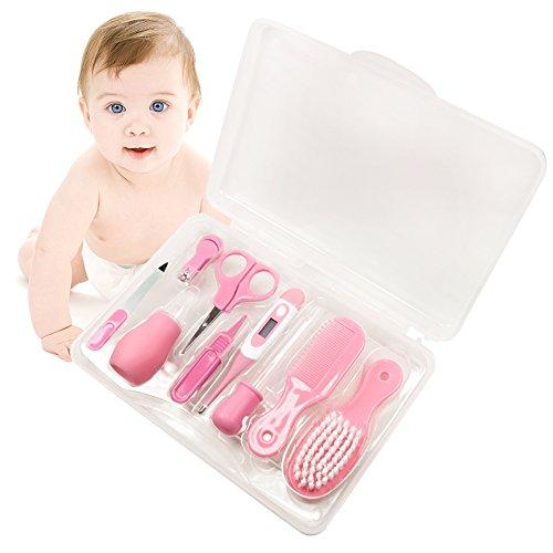 Babypflege set, 9-teilige Babypflegen für Baby (Rosa)