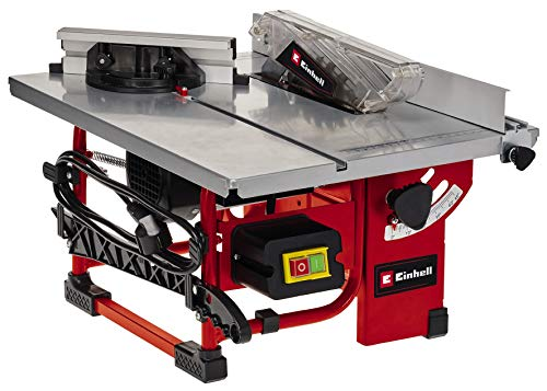Einhell Tischkreissäge TC-TS 200 (max. 800 W, Ø200x16 mm Sägeblatt, wartungsarm und mobil, inkl. 45° Anschlag, Sägeblatt und Werkzeug, Spaltkeil, Schiebestock)