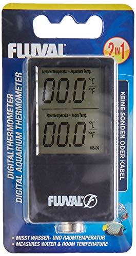 Fluval kabelloses 2 in 1 Digitalthermometer misst die Wasser- und Raumtemperatur