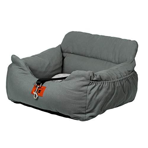 NIBESSER 2-in-1 Autositz und Bett für Hunde, wasserfest und rutschfest, Sitzerhöhung für Katzen, Abnehmbarer Bezug und Kissen