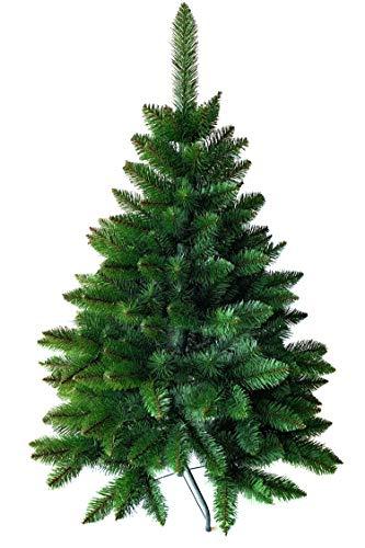Weihnachtsbaum künstlich 120 cm – Dichte Zweige, einfacher Aufbau, Made in EU - Authentischer Christbaum mit Metallständer – Edle Nordmanntanne - Exklusiver Künstlicher Tannenbaum von Pure Living