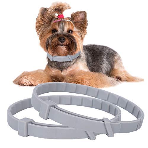 Hunde-Flohhalsband, 66 cm, wasserdicht, verstellbar, natürliche Abwehr von Heuschrecken, Läusen von Haustieren