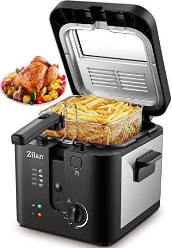 Fritteuse | 1.600 Watt | 2,5 Liter Kapazität | Temp. Regler 0°C-190°C | Friteuse | Airfryer | Fritöse | Friteuse | Deep Fryer | Frittöse | Profifritteuse