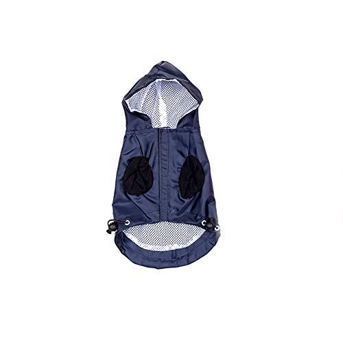 BeiYuSdBb Hunde-Regenjacke, wasserdicht, regendicht, elastisches Band, atmungsaktive Jacke, Polyester, Schwarz, S