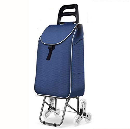 WYZXR Protable Faltbare Einkaufstasche mit Radwagen Einkaufswagen wasserdichte Mobilität Großer Leichter und starker Zug-/Schubwagen für Treppensteigen Behinderte Erwachsene max