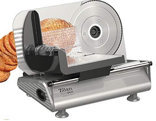 Brotschneidemaschine | Brotschneider | Allesschneider | Bread Slicer | Schneidegerät | 150 Watt | Edelstahlklinge Ø190 mm | Schneidestärke 0-15 mm