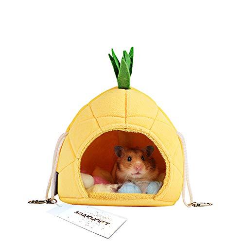 Hamsterbett, 2er-Packung, Zubehör für Chinchilla-Käfig, Spiel-Haus für Kleintiere, Kurzkopfgleitbeutler, Eichhörnchen, Chinchillas, Hamster, Ratten, zum Spielen und Schlafen