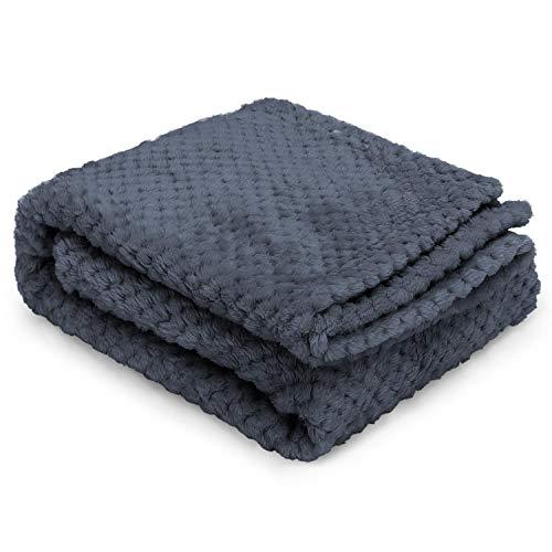 Nobleza Hundedecke Weiche Fleecedecke Waschbare Deck für Haustier Hunde Katzen Welpen Weiche Warme Matte, Grau 120 * 100cm