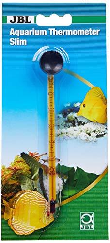 JBL Aquarien-Thermometer Premium 6140700, Schlankes Glas-Präzisionsthermometer, Inkl. Saughalter