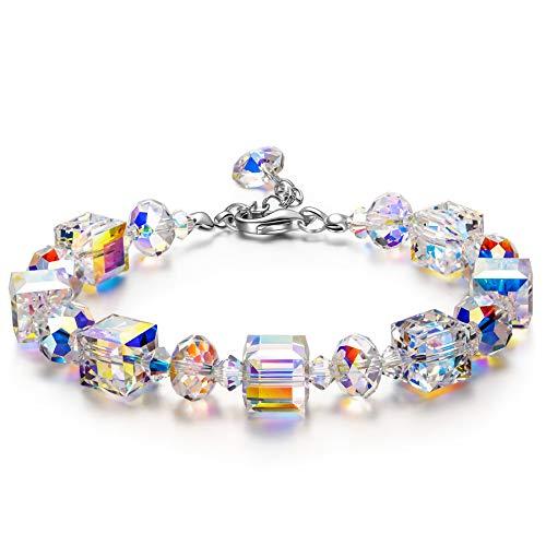 Susan Y Muttertagsgeschenke Damen Armband Frauen Armreif Schmuck Kristalle Damenarmband Geschenke für Frauen Mama Damen Freundin Tochter Valentinstag Jahrestag