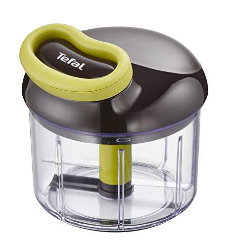 Tefal K13204 Ingenio 5-Sekunden-Zerkleinerer ohne Strom, Fassungsvermögen: 900 ml; Multizerkleinerer; Universalzerkleinerer für Gemüse, Obst, Zwiebeln, Nüsse, Knoblauch, Babynahrung, schwarz/grün