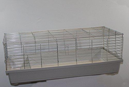 Heimtiercenter H1,20 m Hasenkäfig Nagerkäfig Kaninchenkäfig Käfig Stall Meerschweinchen weiß