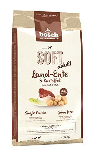 bosch HPC SOFT Land-Ente & Kartoffel   halbfeuchtes Hundefutter für ausgewachsene Hunde aller Rassen   Single Protein   Grain Free, 1 x 12.5 kg