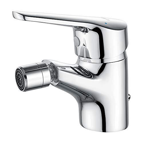 IBERGRIF M15050 M15050-Roma, Einhebel Bidetarmatur, Waschtischarmatur mit Auslauf Höhe 56 mm, Chrom, Silber