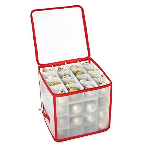 TTAototech 10 Stück Robuste Aufbewahrungsbox für Weihnachtsschmuck, Organizer-Tasche mit Griffen - Bewahren Sie bis zu 64 Standard-Weihnachtskugeln Und Weihnachtsdekoration Sicher auf