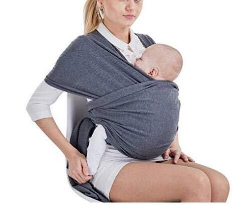Tragetuch Baby elastisch für Neugeborene und Kleinkinder, Babytragetuch Kindertragetuch Baby Bauchtrage Sling Tragetuch für Baby Neugeborene Innerhalb 16 KG von VOARGE (Dunkelgrau)