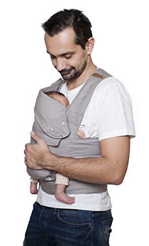 marsupi Baby- und Kindertrage Breeze, leichter Baumwolle / Leinen Mix (Version 2.0) lightgrey/ hellgrau, L