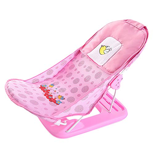 Baby-Badewannensitze, Badewannenkissen, zusammenklappbar, Duschregale, Badewannenregale (Pink)