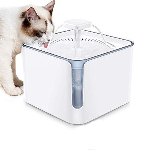 Nemobub Katzen Trinkbrunnen,Neue Upgrade Trinkbrunnen für Hunde 3L Haustier Katzenbrunne Automatisch Katze Wasserspender Wasserspender für Katzen mit 2 Quadruple-Action Filter und USB-Netzteil (Small)
