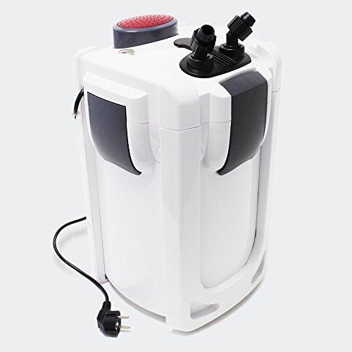SunSun HW-702B Aquariumaußenfilter 1000 L/h 24 W mit 9 W UVC und 3 Stufen Filter Aquarium