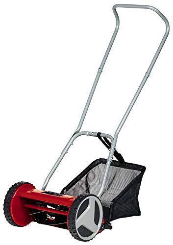 Einhell Hand-Rasenmäher GC-HM 300 (für bis zu 150 m², 30 cm Schnittbreite, kugelgelagerte Mähspindel mit 5 hochwertigen Stahlmessern, 4-stufige Schnitthöheneinstellung 13-37 mm, 16 l-Fangkorb)