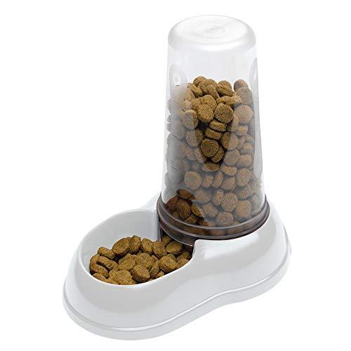 Ferplast Futter- oder Wasserspender für Hunde und Katzen Azimut 1500 Futterspender für Trockenfutter Wasser 1,5 L, robuster Kunststoff, rutschfester Boden, 6,5 x 25 x 24,5 cm, weiß