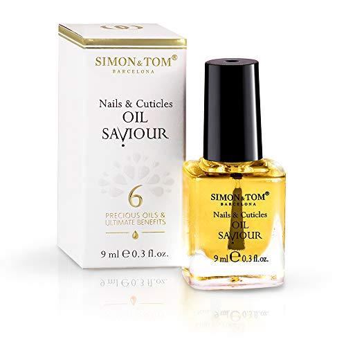 Simon & Tom, Nagel- und Nagelhaut-Reparaturöl, mit mit Süßmandelöl und Jojobaöl, Stärkt und repariert, 9 ml.