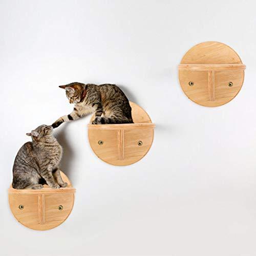 Katzentreppe Kletterwand Katzen Wandmontage Vierstufige Katzentreppe Katzenbaum Für Die Wand Wall Katzenmöbel Handgefertigte Tiermöbel Hölzerne Sprungstufe Platzsparende Im Innenbereich