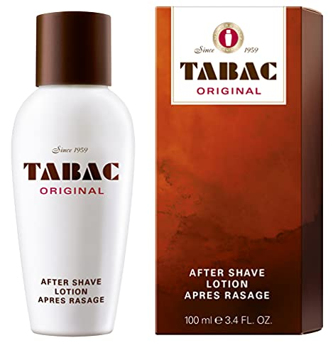 Tabac® Original | After Shave Lotion erfrischende Rasierwasser - erfrischt die von der Rasur beanspruchte Männerhaut - Original Seit 1960 | 100ml Splash