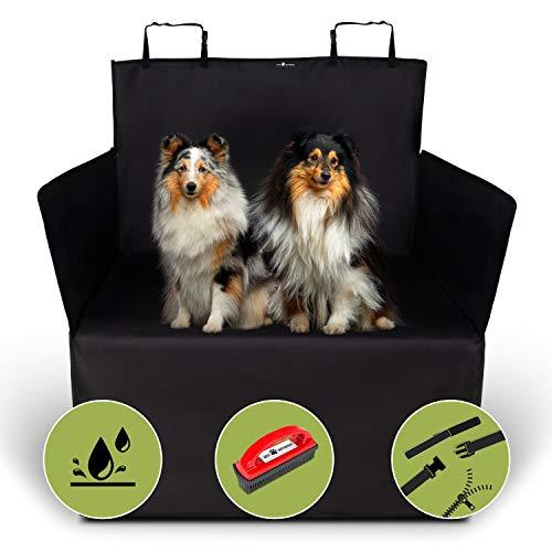 Jeff Wetnooze 2in1 Hundedecke Kofferraum,wasserdicht mit Spezialbürste,Kofferraumschutz für Hunde, Kofferraum Schutzmatte mit Seitenschutz