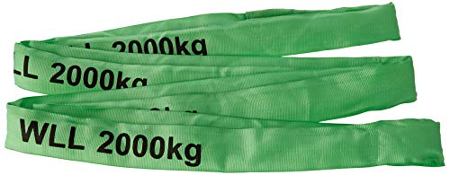 Braun 20041RS Rundschlinge 2000 kg Tragkraft, 4 m Umfang, endlos mit Polyesterkern, grün