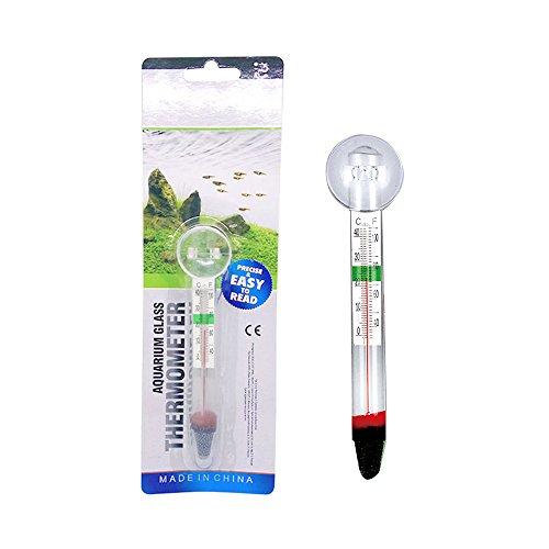 Gogo Aquarium-Thermometer aus Glas, für Fisch-Aquarien, präzise, tauchfest