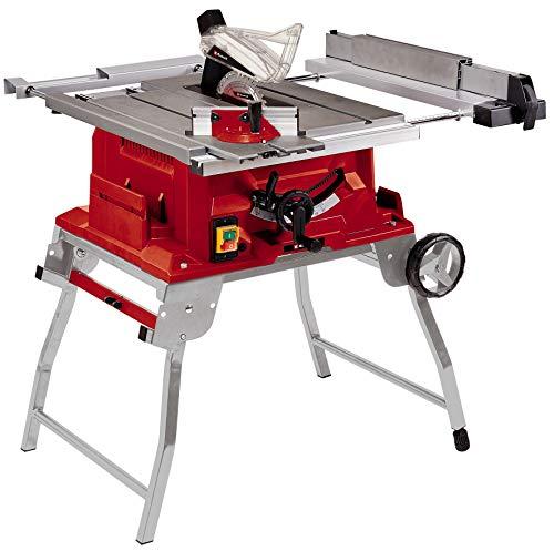Einhell Tischkreissäge TE-CC 250 UF (max. 2000 W, Ø250 x ø30 mm Sägeblatt, 0-78 mm Schnitthöhe, Softstart, faltbar, Parallel- und Quer-/Winkelanschlag)
