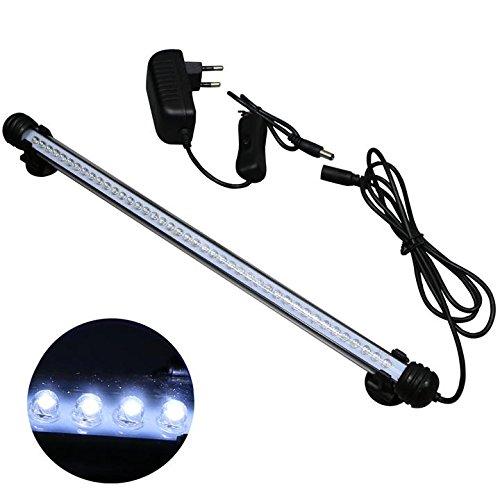 Mingdak LED Aquarium Beleuchtung, Leuchte Lampe 42 LEDs, 37CM Aquariumleuchte IP68 Wasserdicht Unterwasserleuchte für Fisch Tank, Weiß Licht