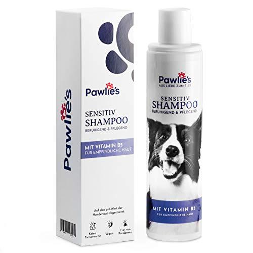 Pawlie's Hundeshampoo Sensitiv - Natürliches Hundeshampoo gegen Juckreiz | Welpenshampoo, Flohshampoo Hund, Shampoo Langhaar, Kurzhaar | Hundeshampoo gegen Geruch, Hunde Schuppen Shampoo, Dog Shampoo