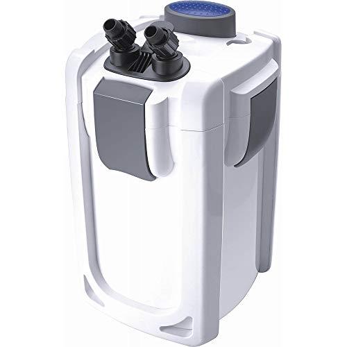 Akwado HW-703B Aquariumaußenfilter 1400 L/h 30 W mit 9 W UVC und 3 Stufen für Aquarien bis 600 Liter