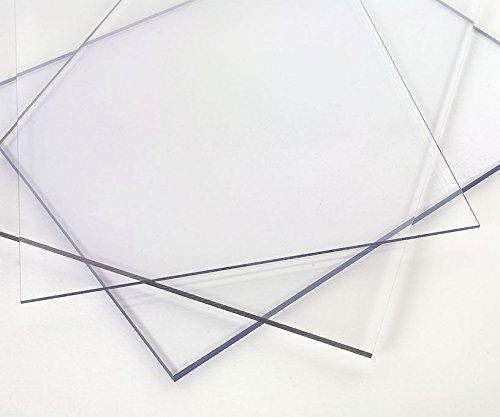 Polycarbonatplatte farblos transparent in verschiedenen Größen und Stärken zur Auswahl