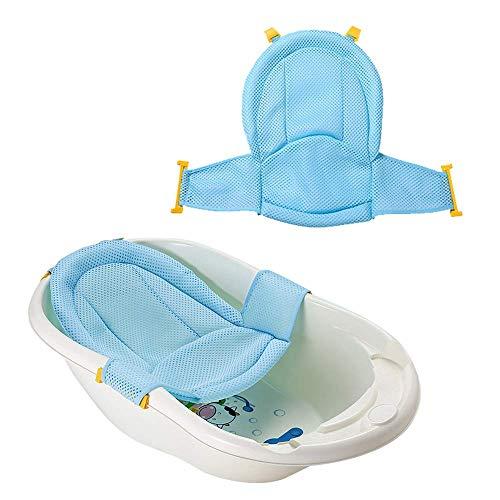 VOARGE Baby Badewanneneinsatz Sitz, Neugeborene Dusche Mesh für Badewanne verstellbar bequeme Badewannen, für Neugeborene Baby und Kleinkinder Baby Badezubehör
