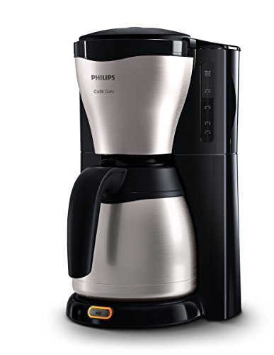 Philips HD7546/20 Gaia Filter-Kaffeemaschine mit Thermo-Kanne, schwarz/metall