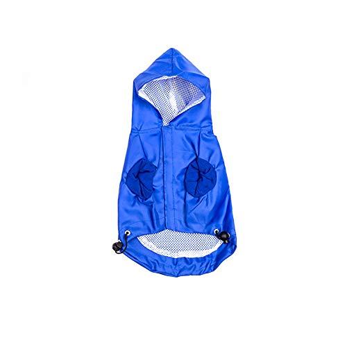 Greenlans Hunde-Regenjacke, Regenjacke, wasserdicht, regendicht, mit Kapuze und elastischem Band, atmungsaktiv