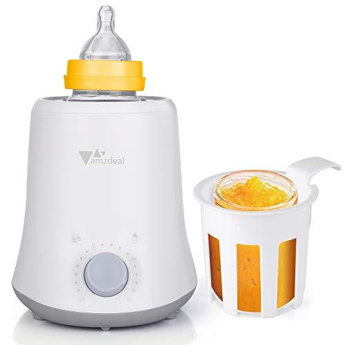 amzdeal 3 in 1 Baby Flaschenwärmer-Schnelles und gleichmäßiges Erhitzen, Erwärmen und Auftauen innerhalb von 3 Minuten, Babykostwärmer mit 24-Stunden-Smart-Thermostat für Babyflaschen und Gläschen