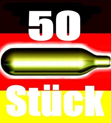 NEMT 50 Be 50 Stück CO2 Bierkapseln für alle Bierzapfanlagen mit 16 g CO2 ohne Gewinde kompatibel zu Biermaxx Zapfprofi etc.
