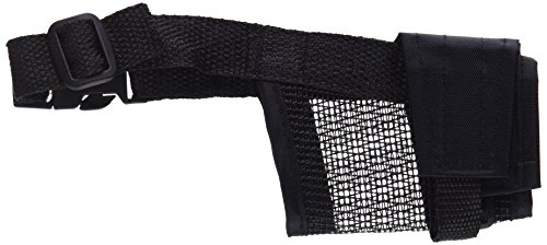 Trixie 19261 Maulkorb mit Netzeinsatz, Polyester, S, schwarz