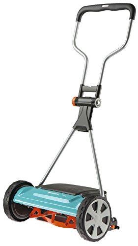 Gardena Comfort Spindelmäher 400 C: Handrasenmäher mit 40 cm Arbeitsbreite für bis zu 250 m² Rasenfläche, Messerwalze aus Qualitätsstahl, berührungslose Schneidetechnik (4022-20)