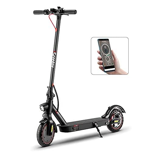 i9pro E-Scooter für Erwachsenen Last 120kg, Schnell 30km/h, 25km Reichweite/Ladung, Doppelfederung, APP Bluetooth Steuerung, 350W Motor, 8.5'' Reifen Schnell Faltbarer Elektroroller(Nein ABE)