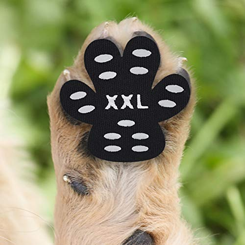 Cizen Pfotenschutz für Hunde, 20 Stück Anti-Rutsch Pfoten-Schutz Hundepfotenschutz, Selbstklebende Einweg-Hundeschuhe (XXL-(36kg +))