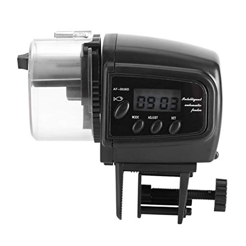 XQAQX Fischfutterautomat, Automatischer Fischfutterautomat, Digitaler LCD-Fischfutterautomat Elektronischer Fischfutterspender Automatischer Timer Aquarium-Futterautomat